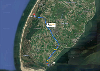 Route Ecomare Texel